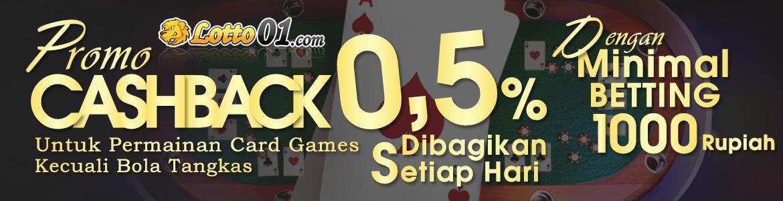 promo cashback poker